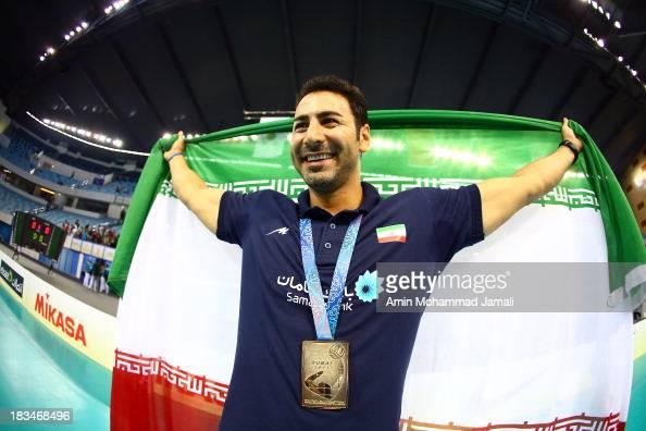 Ahmad Masajedi during 17th Asian Men's Volleyball Championship between Iran And Korea on October 6 2013 in Dubai United Arab Emirates