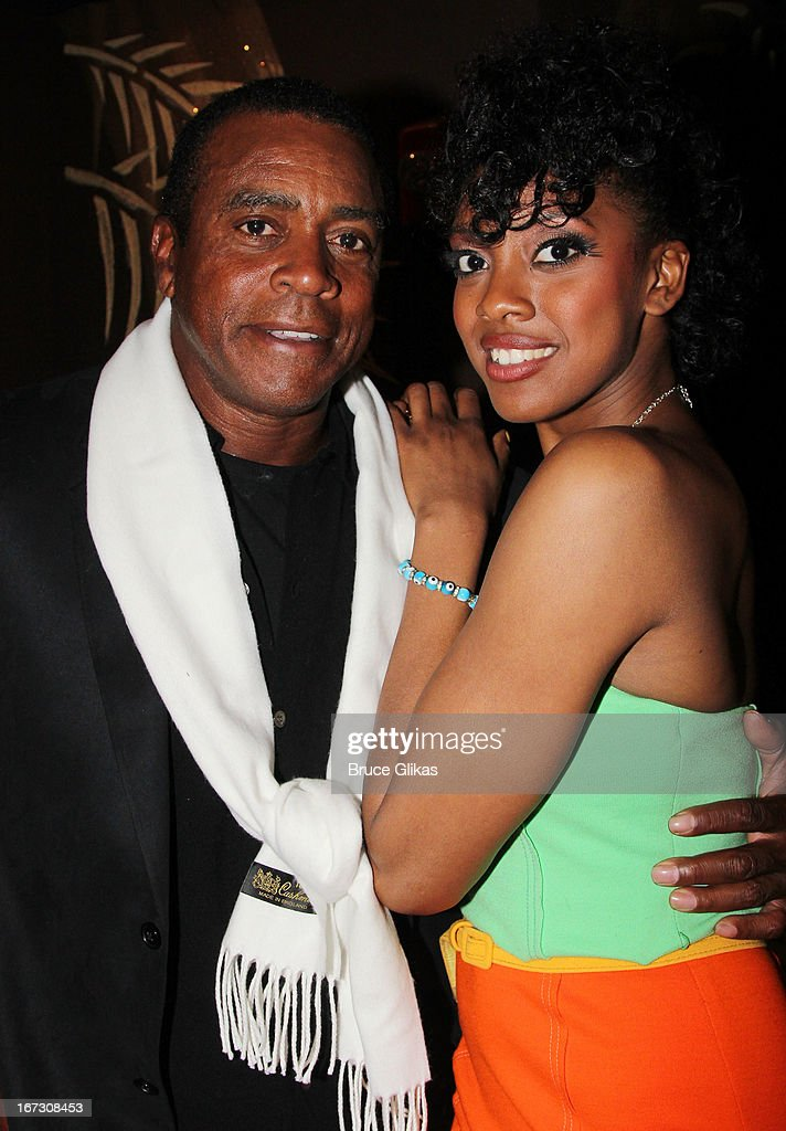 <a gi-track='captionPersonalityLinkClicked' href=/galleries/search?phrase=Ahmad+Rashad&family=editorial&specificpeople=228301 ng-click='$event.stopPropagation()'>Ahmad Rashad</a> and daughter Condola Rashad attend the after party for the Broadway opening night of 'The Trip To Bountiful' at The Copacabana on April 23, 2013 in New York City.