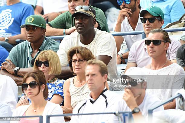 Ahmad Rashad Mirka Federer Anna Wintour Michael Jordan and Gavin Rossdale attend day 13 of the 2014 US Open at USTA Billie Jean King National Tennis...