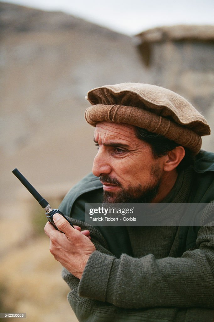 Ahmad Shah Massoud commands his mujahideen troops in their battle against the Taliban on the front to the north of Kabul | Location North of Kabul...