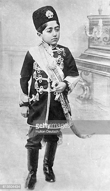 Ahmad Shah of the Qajar dynasty the last Shah of Iran overthrown by Reza Khan in 1921 Persia ca 1909