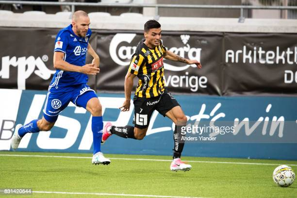 Ahmad Yasin of BK Hacken competes for the ball with Marcus Danielsson of GIF Sundsvall during the Allsvenskan match between BK Hacken and GIF...