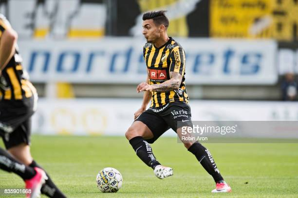 Ahmad Yasin of BK Hacken controls the ball during the Allsvenskan match between IFK Goteborg and BK Hacken at Gamla Ullevi on August 20 2017 in...