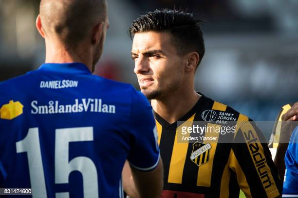 Ahmad Yasin of BK Hacken looks on prior to the Allsvenskan match between BK Hacken and GIF Sundsvall at Bravida Arena on August 14 2017 in Gothenburg...