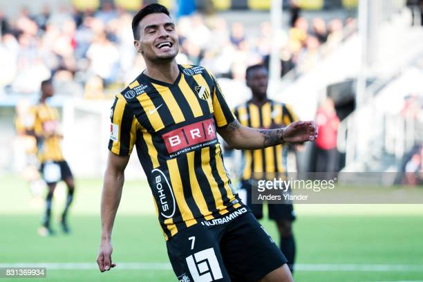 Ahmad Yasin of BK Hacken reacts during the Allsvenskan match between BK Hacken and GIF Sundsvall at Bravida Arena on August 14 2017 in Gothenburg...