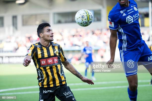 Ahmad Yasin of BK Hacken shoots during the Allsvenskan match between BK Hacken and GIF Sundsvall at Bravida Arena on August 14 2017 in Gothenburg...