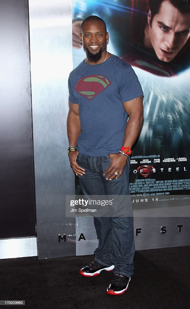 Ahman Green attends the 'Man Of Steel' World Premiere at Alice Tully Hall at Lincoln Center on June 10, 2013 in New York City.