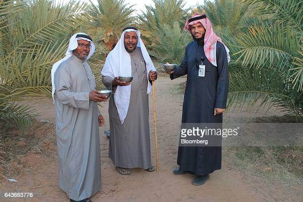 Ahmed Al Masoud a farmer center who plans to turn his farm into a resort where he will teach tourists about traditional agriculture offers visitors...