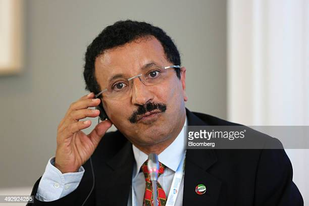 Ahmed bin Sulayem chairman of DP World Ltd speaks during a session at the St Petersburg International Economic Forum in Saint Petersburg Russia on...