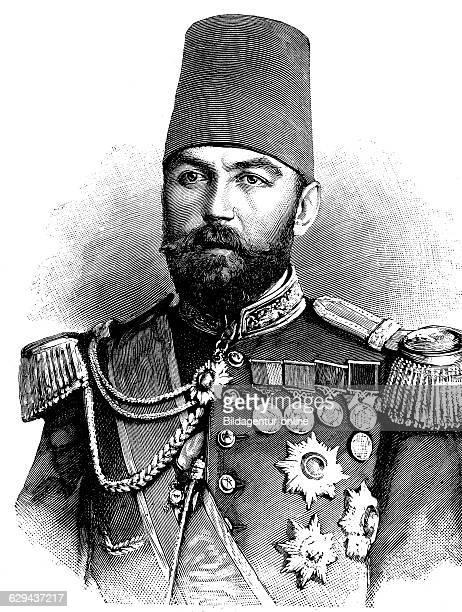 Ahmed cevat pasha 1850 1900 turkish grand vizier governor of crete and damascus historical illustration circa 1893