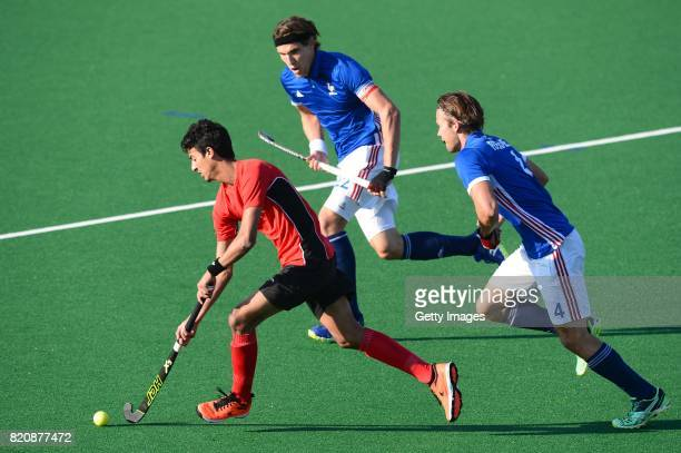 Ahmed Elganaini of Egypt during day 8 of the FIH Hockey World League Men's Semi Finals 7th8th place match between Egypt and France at Wits University...
