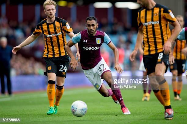 Ahmed Elmohamady of Aston Villa during the Sky Bet Championship match between Aston Villa and Hull City at Villa Park on August 05 2017 in Birmingham...