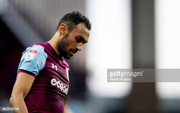 Ahmed Elmohamady of Aston Villa during the Sky Bet Championship match between Aston Villa and Nottingham Forest at Villa Park on September 23 2017 in...