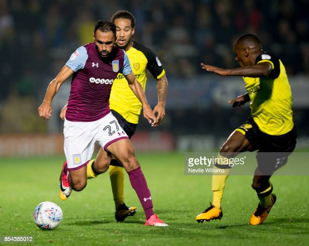 Ahmed Elmohamady of Aston Villa during the Sky Bet Championship match between Burton Albion and Aston Villa at the Pirelli Stadium on September 26...