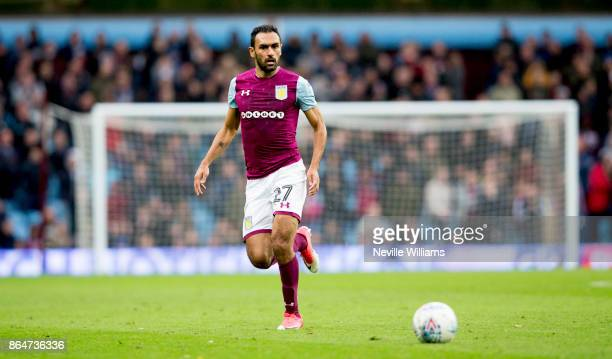 Ahmed Elmohamady of Aston Villa during the Sky Bet Championship match between Aston Villa and Fulham at Villa Park on October 21 2017 in Birmingham...