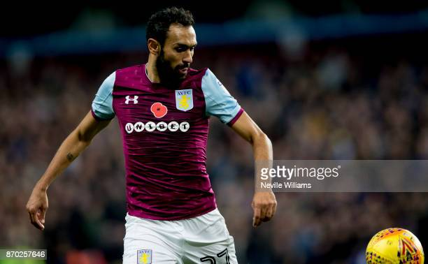 Ahmed Elmohamady of Aston Villa during the Sky Bet Championship match between Aston Villa and Sheffield Wednesday at Villa Park on November 04 2017...