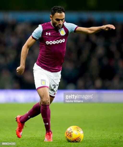 Ahmed Elmohamady of Aston Villa during the Sky Bet Championship match between Aston Villa and Millwall at Villa Park on December 09 2017 in...