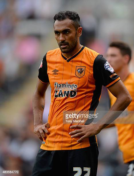 Ahmed Elmohamady of Hull City during the Sky Bet Championship match between Hull City and Huddersfield Town at KC Stadium on August 8 2015 in Hull...