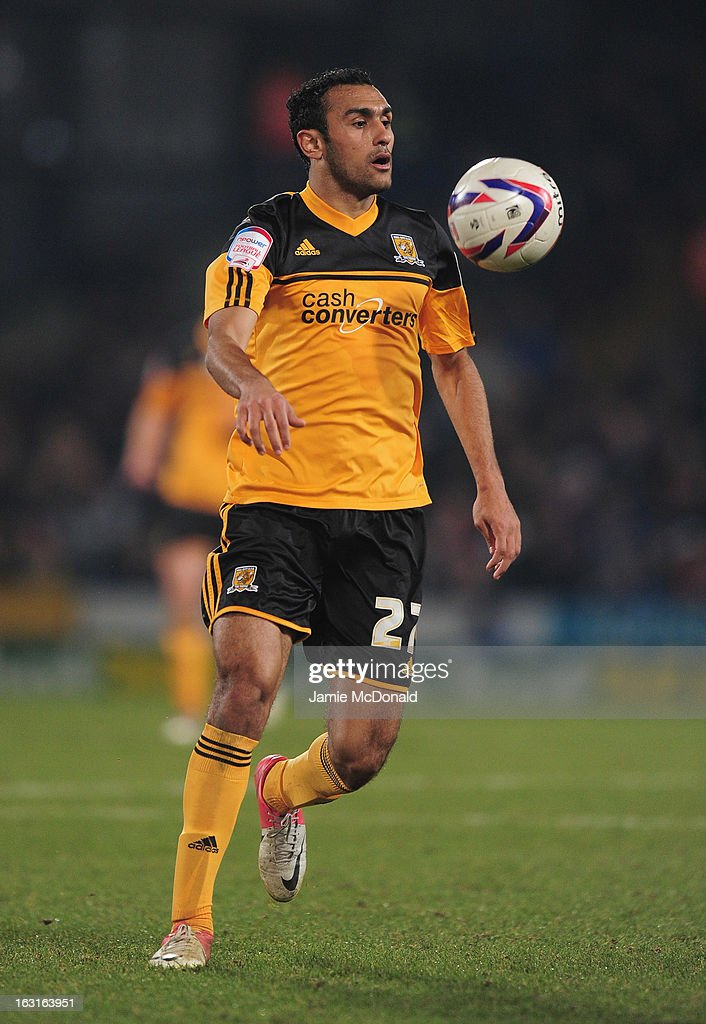 <a gi-track='captionPersonalityLinkClicked' href=/galleries/search?phrase=Ahmed+Elmohamady&family=editorial&specificpeople=7140369 ng-click='$event.stopPropagation()'>Ahmed Elmohamady</a> of Hull City in action during the npower Championship match between Crystal Palace and Hull City at Selhurst Park on March 5, 2013 in London, England.