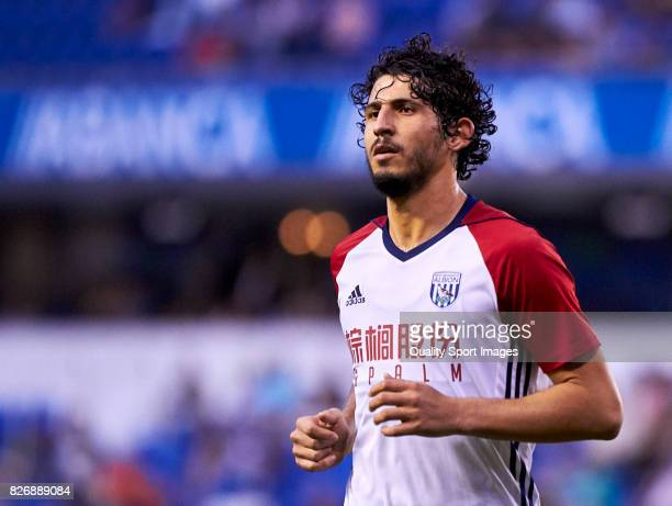 Ahmed ElSayed Hegazi of West Bromwich Albion looks on during the Pre Season Friendly match between Deportivo de La Coruna and West Bromwich Albion at...