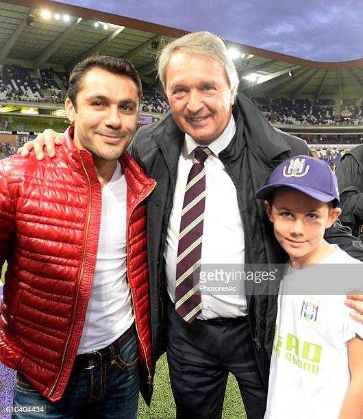 Ahmed Hassan ex player of RSCA and Herman Van Holsbeeck general manager of RSC Anderlecht pictured during Jupiler Pro League match between RSC...
