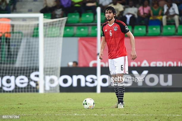 Ahmed Hegazi of Egypt during the African Nations Cup match between Egypt and Ghana on January 25 2017 in Port Gentil Gabon