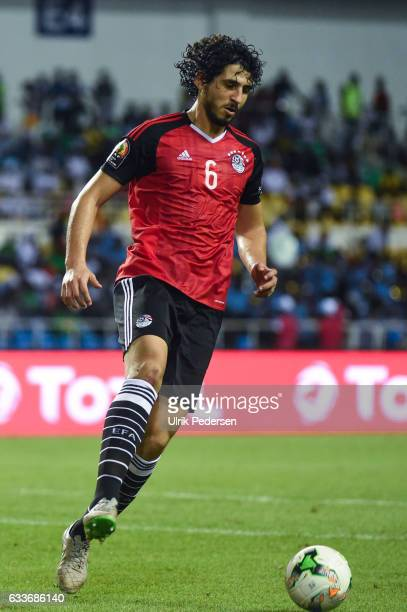 Ahmed Hegazi of Egypt during the African Nations Cup Semi Final match between Burkina Faso and Egypt at Stade de L'Amitie on February 1 2017 in...