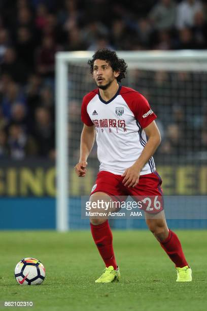 Ahmed Hegazi of West Bromwich Albion in action during the Premier League match between Leicester City and West Bromwich Albion at King Power Stadium...
