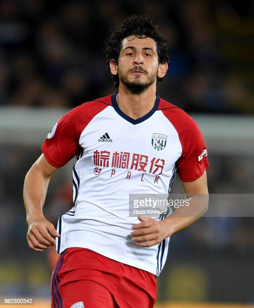 Ahmed Hegazi of West Bromwich Albion in action during the Premier League match between Leicester City and West Bromwich Albion at The King Power...