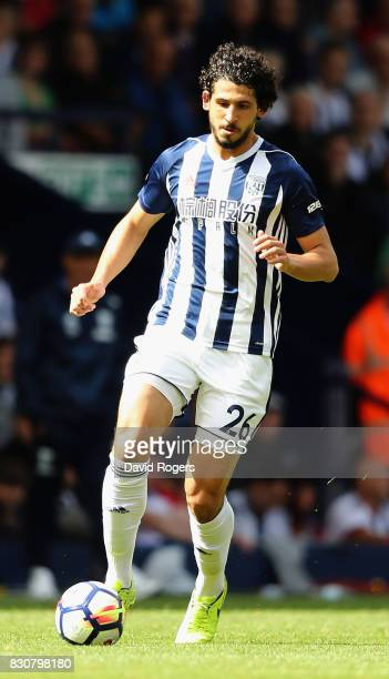 Ahmed Hegazi of West Bromwich Albion runs with the ball during the Premier League match between West Bromwich Albion and AFC Bournemouth at The...