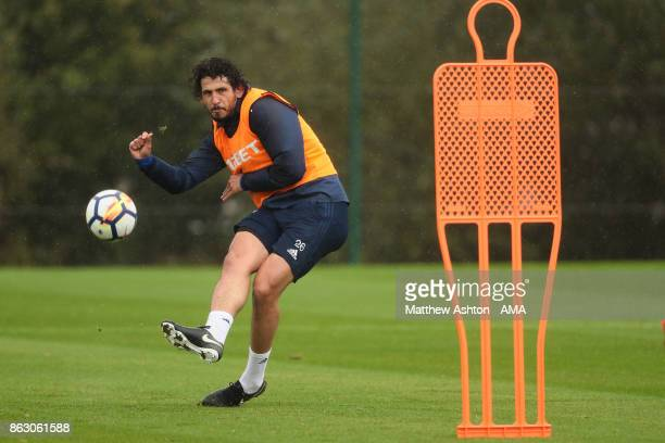 Ahmed Hegazy of West Bromwich Albion during a West Bromwich Albion Training Session on October 19 2017 in West Bromwich England