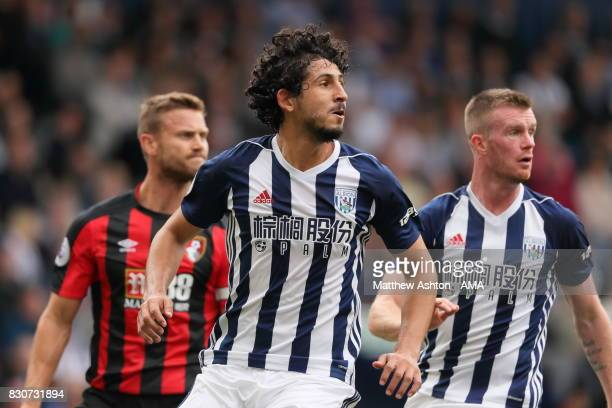 Ahmed Hegazy of West Bromwich Albion during the Premier League match between West Bromwich Albion and AFC Bournemouth at The Hawthorns on August 12...