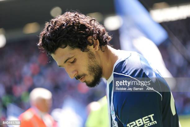 Ahmed Hegazy of West Bromwich Albion during the Premier League match between West Bromwich Albion and Stoke City at The Hawthorns on August 27 2017...