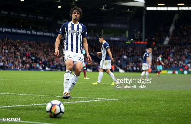 Ahmed Hegazy of West Bromwich Albion during the Premier League match between West Bromwich Albion and West Ham United at The Hawthorns on September...