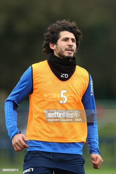 Ahmed Hegazy of West Bromwich Albion during training on December 5 2017 in West Bromwich England