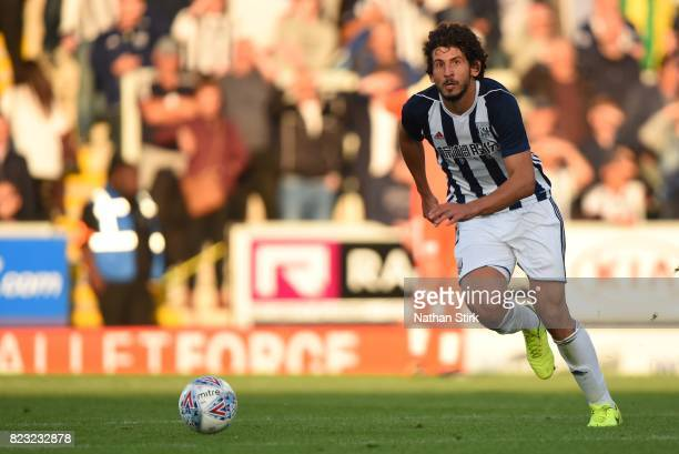 Ahmed Hegazy of West Bromwich Albion in action during the pre season friendly match between Burton Albion and West Bromwich Albion at Pirelli Stadium...
