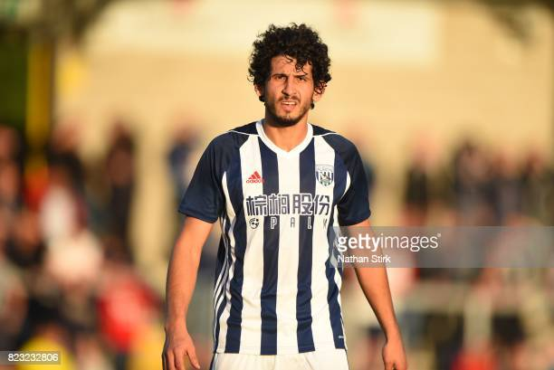 Ahmed Hegazy of West Bromwich Albion looks on during the pre season friendly match between Burton Albion and West Bromwich Albion at Pirelli Stadium...