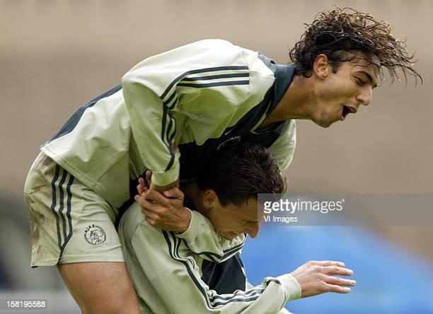ahmed hossam mido Zlatan Ibrahimovic during the match between Sparta Rotterdam and Ajax Amsterdam on October 1 2001 at stadium het Kasteel at...