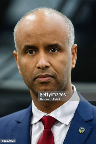 Ahmed Hussen Minister of Immigration Refugees and Citizenship of Canada on March 14 2017 in Berlin Germany