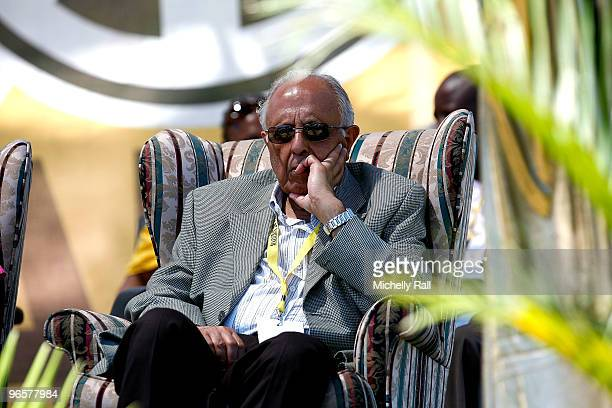Ahmed Kathrada a veteran antiapartheid activist listens to a speech during celebrations to mark the 20th Anniversary of Nelson Mandela's release from...