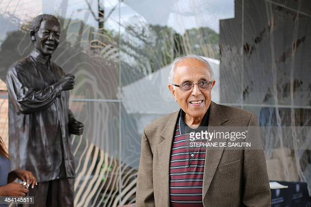 Ahmed Kathrada antiapartheid activist and close friend of former South African President Nelson Mandela visits the Nelson Mandela Foundations Centre...