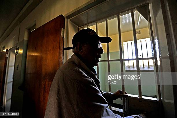 Ahmed Kathrada during a tour of Robben Island on April 22 2015 in Cape Town South Africa Struggle icon Kathrada is the face of a new app developed by...