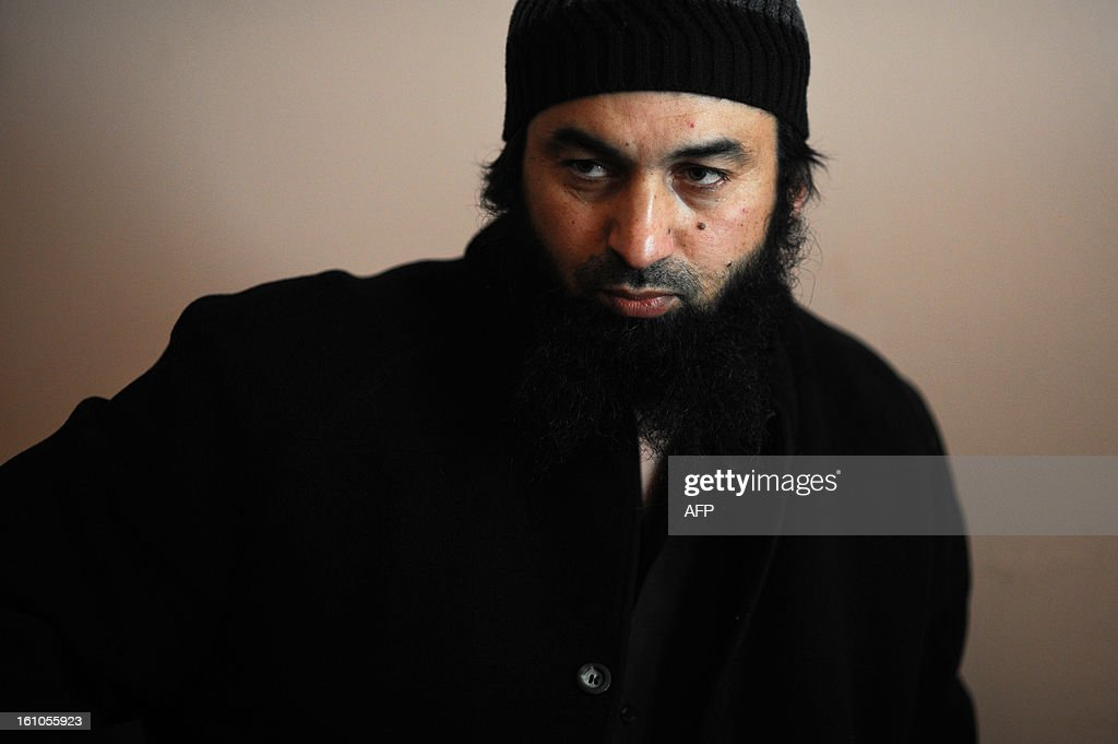Ahmed Moussa, 38, speaks during an interview with AFP in the Roma neighborhood in Pazardzhik on February 2, 2013. Ahmed Moussa is accused, along with 12 other Muslim clerics, of 'dissemination of anti-democratic ideology, by the spread of Salafi ideology branch of Islam to impose a state of the caliphate.'