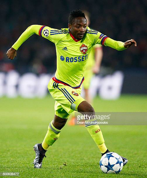 Ahmed Musa of CSKA in action during the group B UEFA Champions League match between PSV Eindhoven and CSKA Moscow held at Philips Stadium on December...