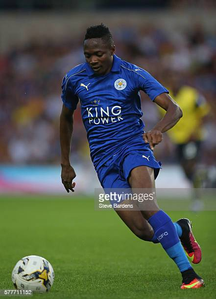 Ahmed Musa of Leicester City during a preseason friendly between Oxford United and Leicester City at Kassam Stadium on July 19 2016 in Oxford England
