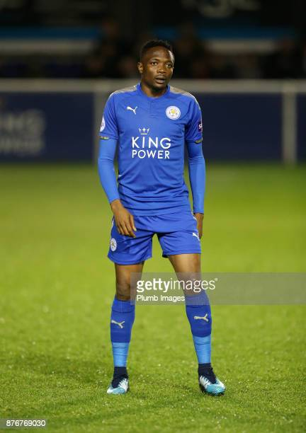 Ahmed Musa of Leicester City during the Premier League 2 match between Leicester City and Sunderland at Holmes Park on November 20th 2017 in...