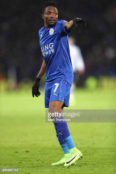 Ahmed Musa of Leicester City in action during The Emirates FA Cup Fourth Round Replay beteween Leicester City and Derby County at The King Power...