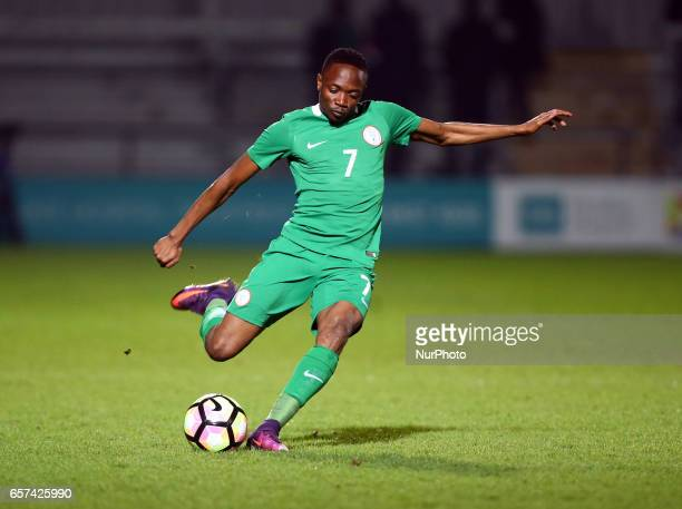 Ahmed Musa of Nigeria during International Friendly match between Nigeria against Senegal at The Hive Barnet FC on 23rd March 2017