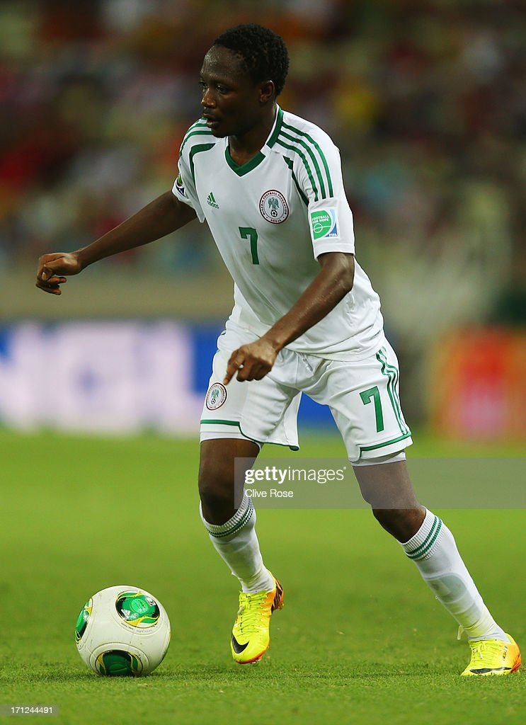 Ahmed Musa of Nigeria in action during the FIFA Confederations Cup Brazil 2013 Group B match between Nigeria and Spain at Castelao on June 23, 2013 in Fortaleza, Brazil.