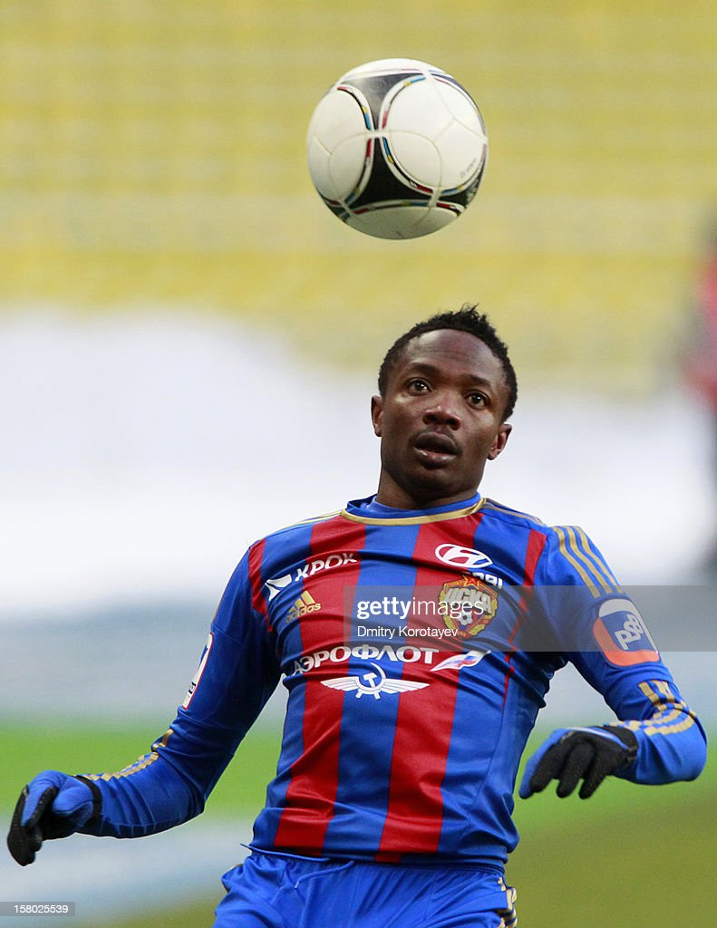 Ahmed Musa of PFC CSKA Moscow in action during the Russian Premier League match between PFC CSKA Moscow and FC Mordovia Saransk at the Luzhniki Stadium on December 09, 2012 in Moscow, Russia.